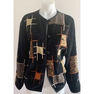 Vintage Gold/Black Jacket Size Large